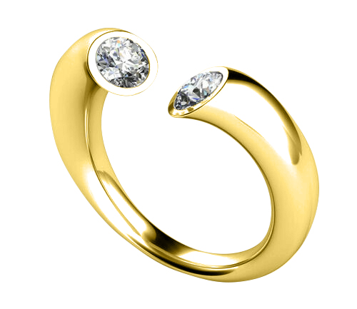 Diamond ring Atlanta 0.20 carat 14K or 18K yellow gold