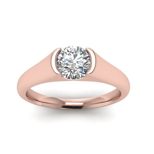Diamond Ring Sydney 2.00 Ct. Diamond 14K or 18K Rose Gold