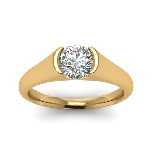 Diamond Ring Sydney 0.50 Ct. Diamond 14K or 18K Yellow Gold