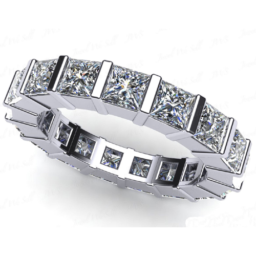 2.00 Ct. Mémoire Blanc Diamants Bague de 950 Platine VS2/F