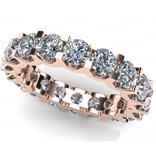 4.00 carats de diamant bague de l'éternité or rose 14 carats