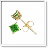 0.50 Ct. Green Diamond Earstuds - 14K white or yellow gold