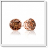 0.50 Ct. Cognac Diamond Earstuds - 14K rose gold