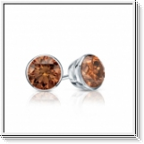 0.50 Ct. Cognac Diamond Earstuds - 14K white gold