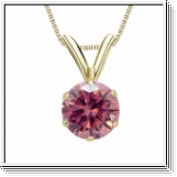 0.50 Carat Pink Diamond 14K yellow gold Pendant
