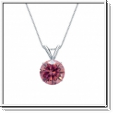0.50 Carat Pink Diamond 14K white gold Pendant