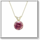 0.25 Carat Pink Diamond 14K yellow gold Pendant