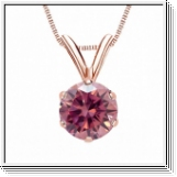 0.25 Carat Pink Diamond 14K rose gold Pendant