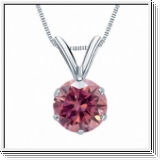 0.25 Carat Pink Diamond 14K white gold Pendant