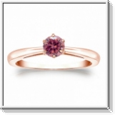 1/4 CT PINK DIAMOND ENGAGEMENT RING 14K ROSE GOLD