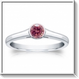 1/4 CT PINK DIAMOND ENGAGEMENT RING 14K GOLD