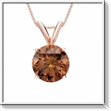 0.50 Carat cognac Diamond 14K rose gold Pendant