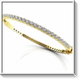 Bracelet Esclave en Or jaune 14 Kt 3.25 ct de Diamants