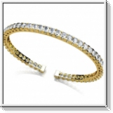 Bracelet Esclave en Or jaune 14 Kt 5.50 ct de Diamants
