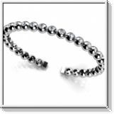 Bracelet Esclave en Or blanc 14 Kt 3.00 ct de Diamants