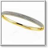Bracelet Esclave en Or jaune 14 Kt 4.41 ct de Diamants