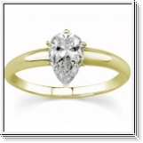 1.00 Ct. D/SI1 PEAR DIAMOND ENGAGEMENT RING 14K GOLD