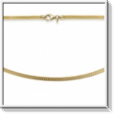 Stocking chain 585 yellow gold 5mm knitted chain, 42cm to 50cm