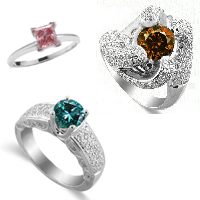 Color Diamond Rings