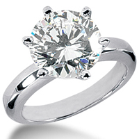 0.60CT GH/SI ROUND DIAMOND ENGAGEMENT RING 14K GOLD