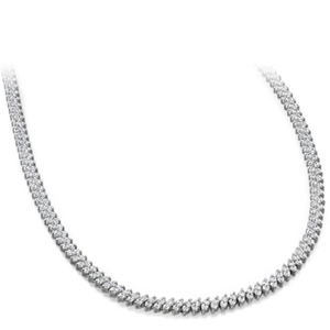 Diamond Necklace - 10.00 Carat Diamonds 14K White Gold