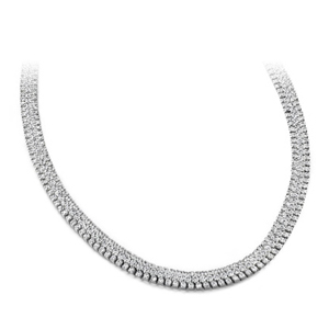 Diamond Necklace - 20.00 Carat Diamonds 14K White Gold